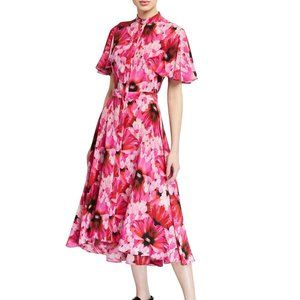 NWT Alexander McQueen Floral Silk Dress 40 / 4